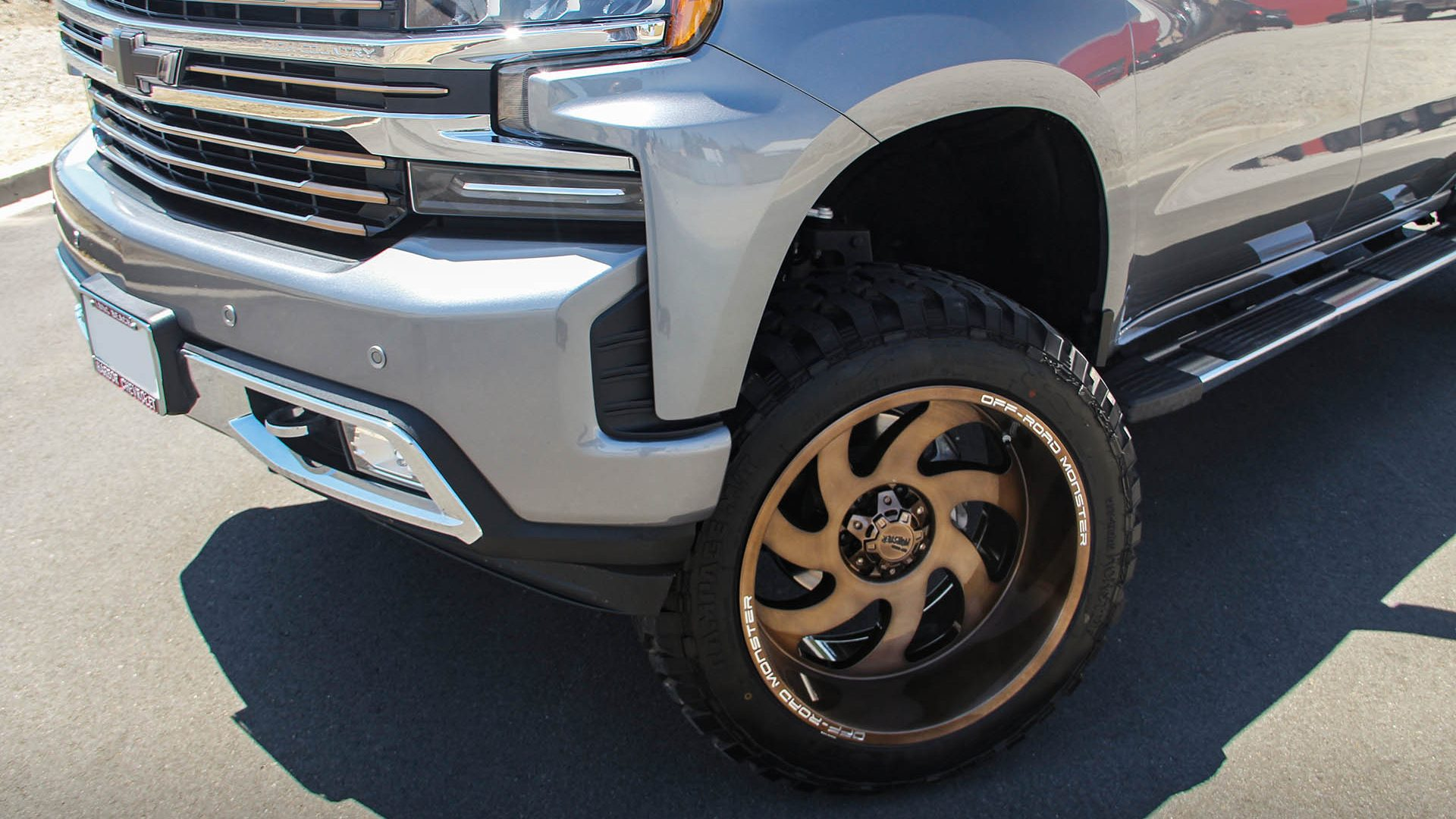 Offroad Monster M07 Wheels on a Chevrolet Silverado High Country