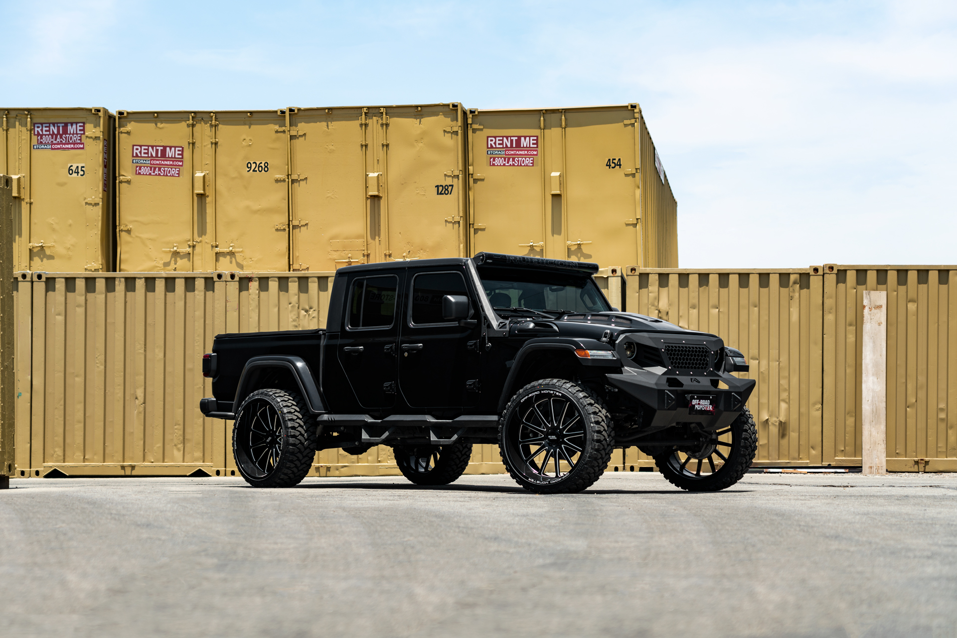 OffRoad Monsterm26 26x12 Wheels on a Jeep Gladiator