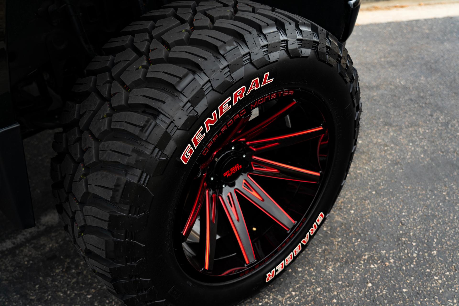 M25 Off-Road Monster Wheels on a Chevrolet Silverado LTZ