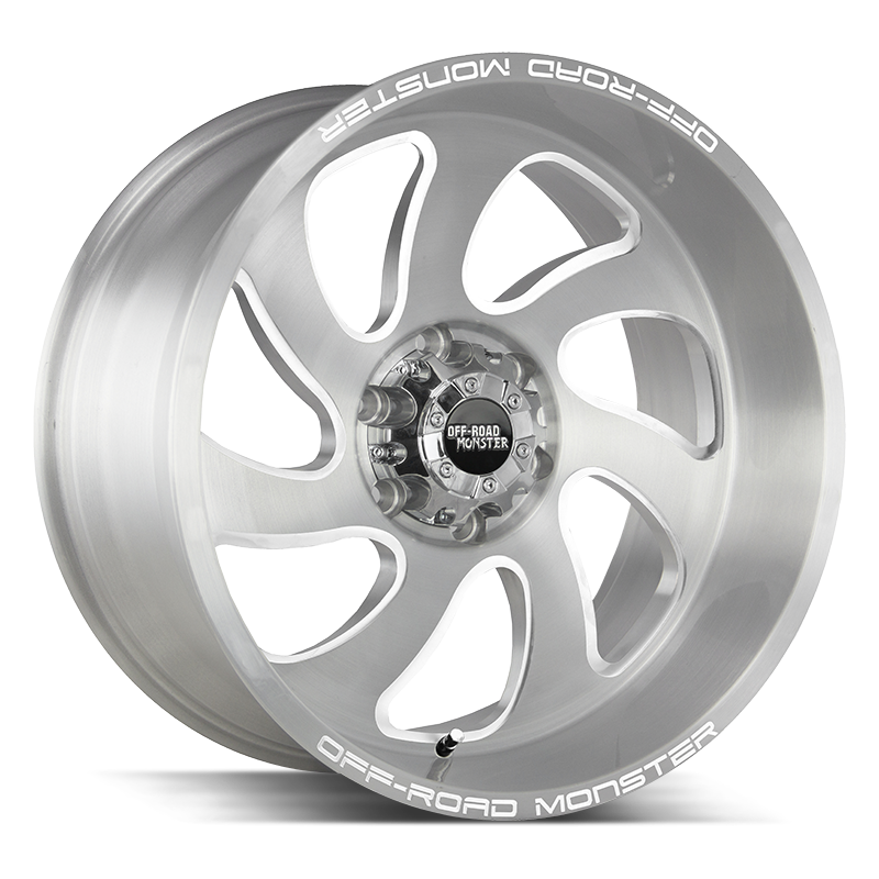 The M07 Wheel by Off Road Monster in Brushed Face Silver