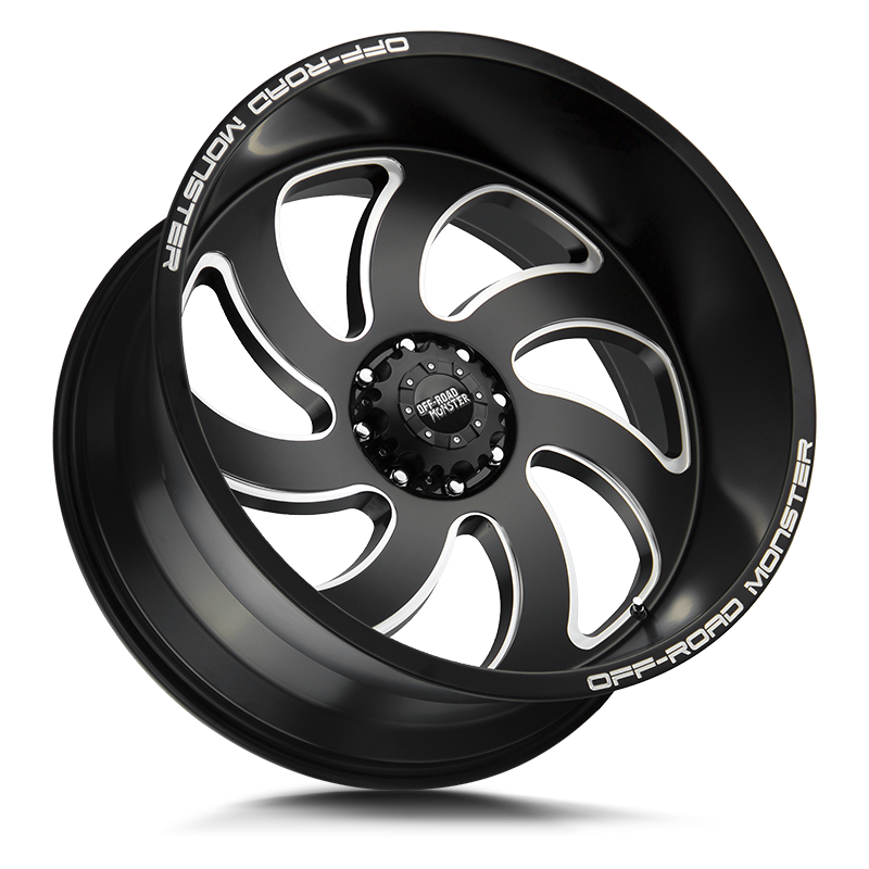 The M07 Wheel by Off Road Monster in Flat Black Milled