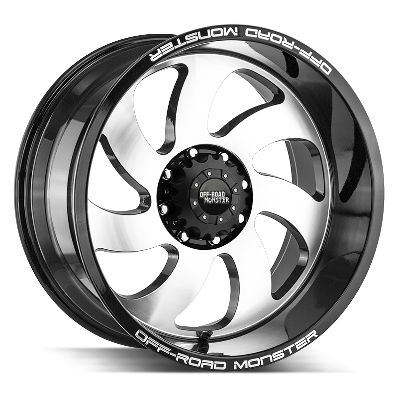 The M07 Wheel by Off Road Monster in Gloss Black Machined