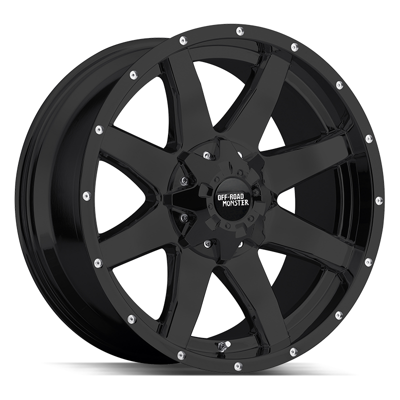 The M08 Wheel by Off Road Monster in Flat Black