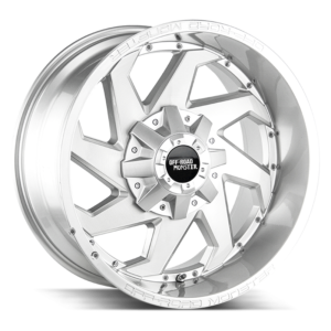 The M09 Wheel by Off Road Monster in Brushed Face Silver