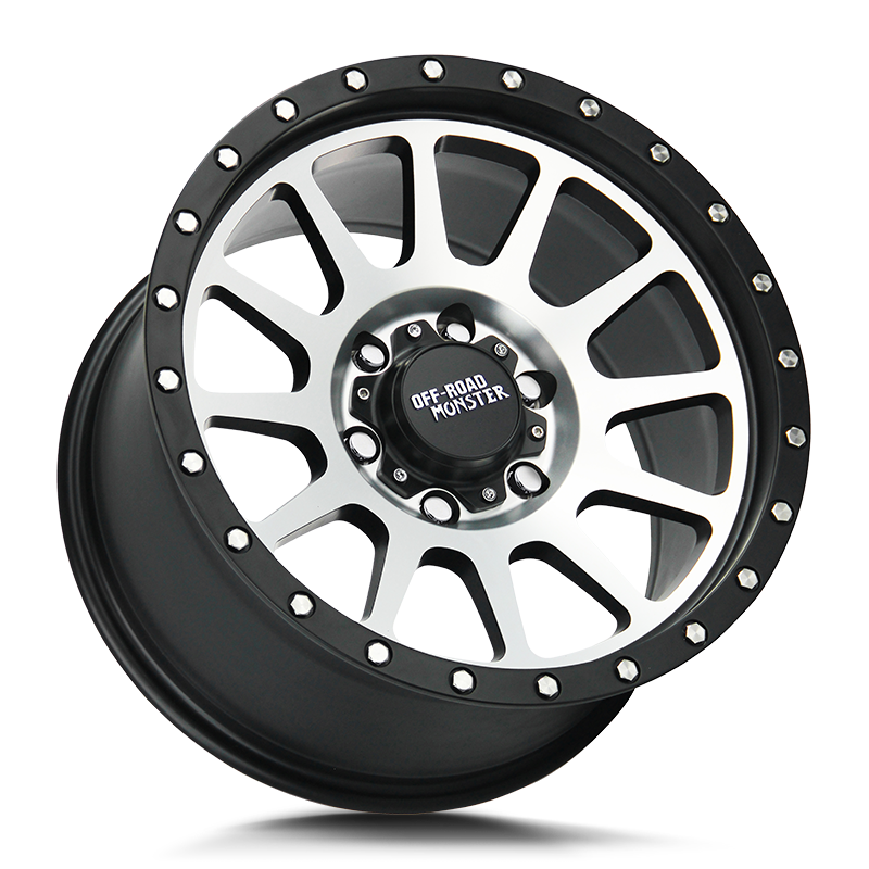 The M10 Wheel by Off Road Monster in Flat Black Machined