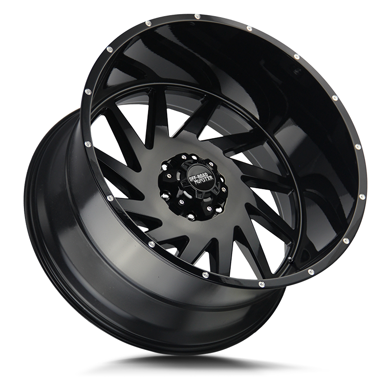 The M12 Wheel by Off Road Monster in All Gloss Black