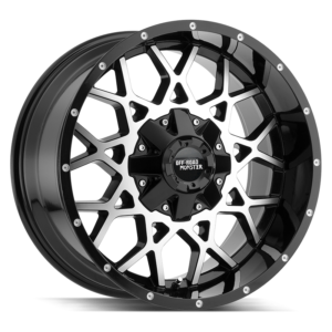 The M14 Wheel by Off Road Monster in Gloss Black Machined