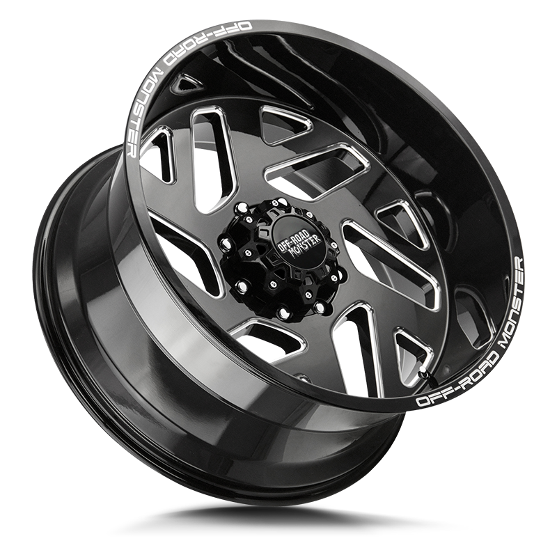 The M19 Wheel by Off Road Monster in Gloss Black Milled