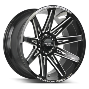The M25 Wheel by Off Road Monster in Gloss Black Milled