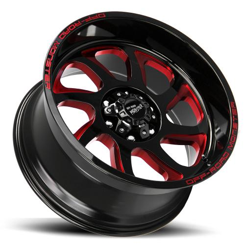 M22 GLOSS BLACK MILLED RED LAY