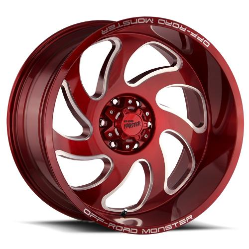 M07 22x12 Candy Red Milled