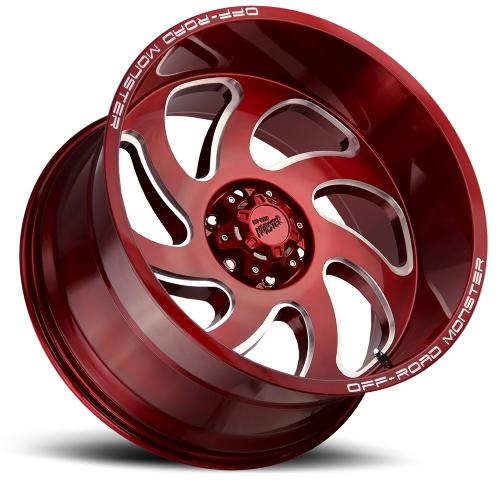 M07 22x12 Candy Red Milled lay