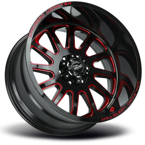 M17 Gloss Black Milled Red lay