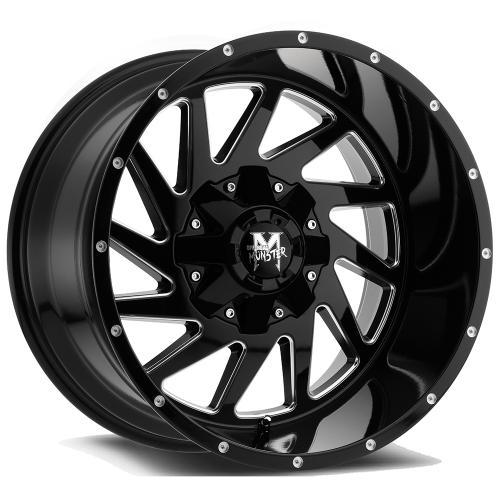 M12 gloss 20x12 Gloss Black Milled