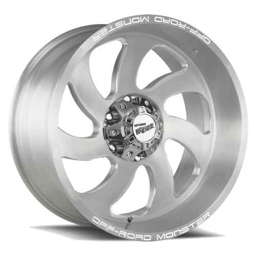 M07 20x10 Brushed Face Silver