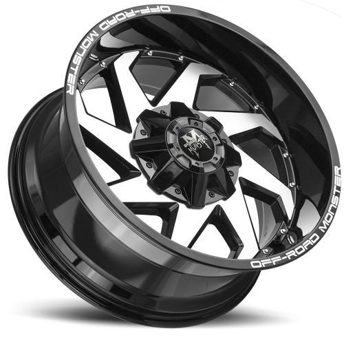 M09 20X10 Gloss Black Machined  Lay