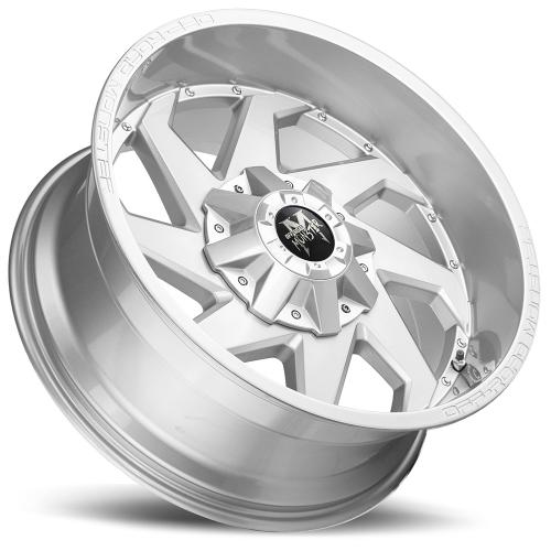 M09 20X10 Brushed Face Silver Lay