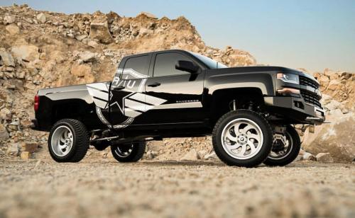 off road monster orm m07 silverado black truck
