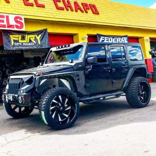 off road monster orm M80 black milled black wranger