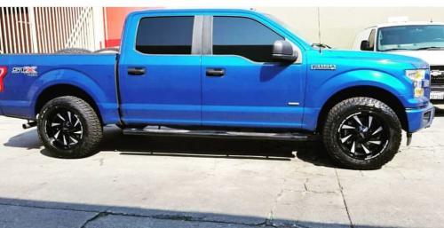 off road monster orm M80 black milled blue f150