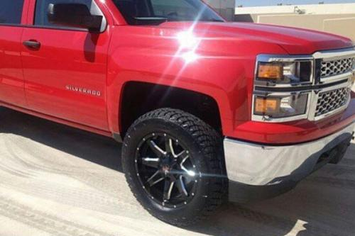 off road monster orm m08 20x9 black milled silverado