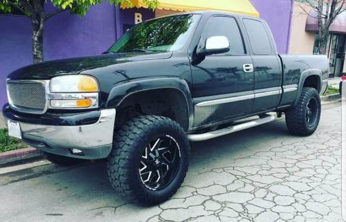 off road monster orm m09 gloss black milled 20x10 gmc sierra