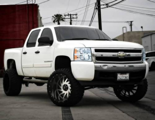 off road monster orm m12 24x14 black machined lifted silverado