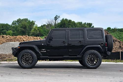 off road monster orm m17 jeep wranger 20x10 black milled