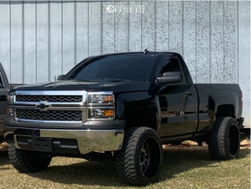 off road monster orm m17 silverado 20x12 black machined