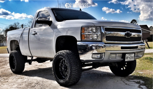off road monster orm m17 silverado white black milled