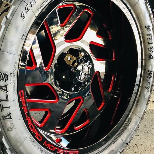 off road monster orm m19 black milled red