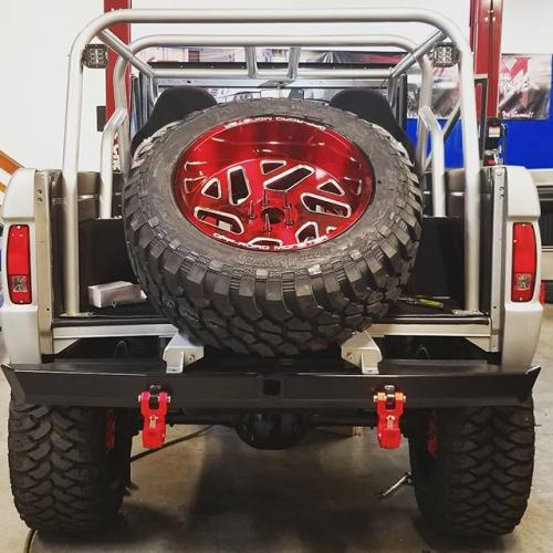 off road monster orm m19 ford bronco candy red milled