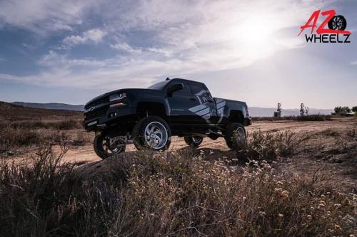 off road monster orm m07 black silverado brushed wheels