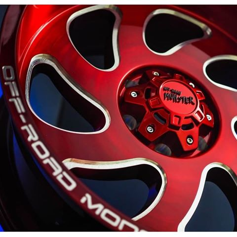 off road monster orm m07 closeup red