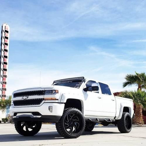 off road monster orm m07 white silverado 24x12 black milled 2