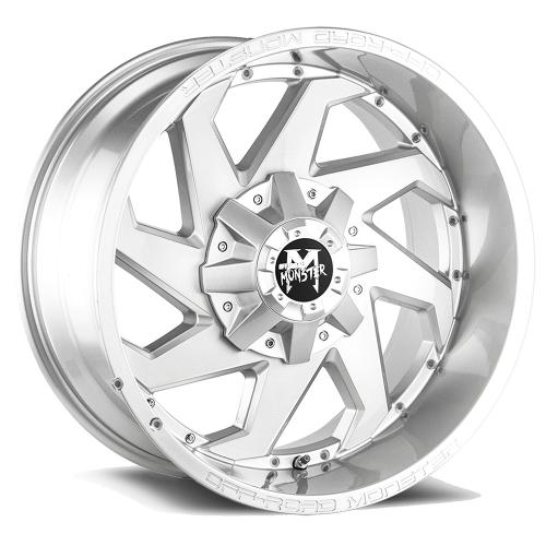 M09 20X10 Brushed Face Silver