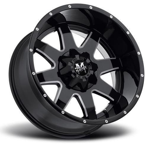 strada monster m08 20x12 gloss black milled lay 1000x1000